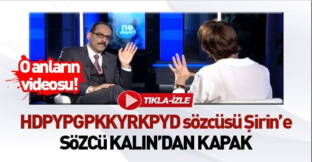 Kürtleri HDP temsil eder diyen Şirin'e kapak