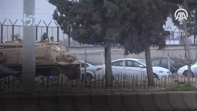 PYD/PKKnın Afrindeki mevzileri ateş altına alındı