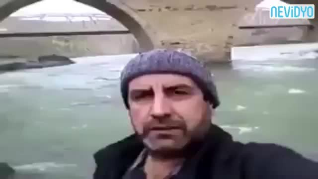 Şelale videosuyla fenomen olan adamdan nehir kenarında video
