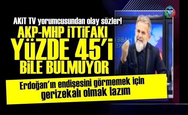 'AKP-MHP YÜZDE 45'İ BİLE BULMUYOR...'