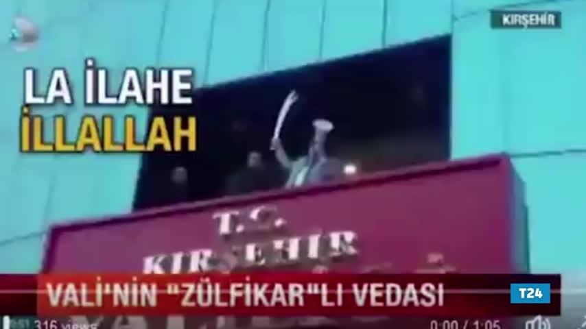 Kırşehir Valisi'nden Zülfikar'lı, tekbirli veda!