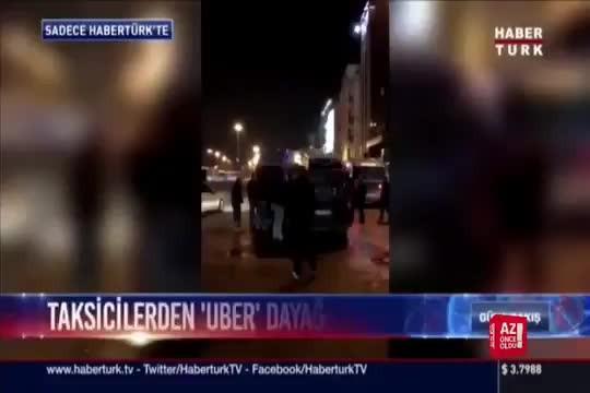 Bir grup taksici, müşteri gibi Uber çağırıp, Uber şoförlerini darp etti!