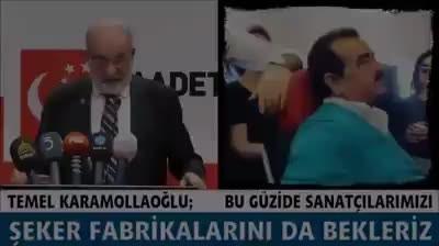 Saadet Partisi Başkanın'dan Saray Sanatçılarına Bomba Sözler!