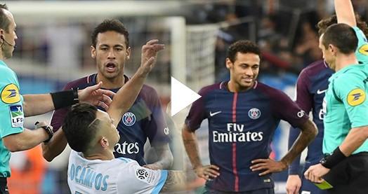 Neymar rakibine kafa attı