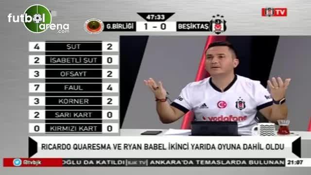 Kırmızı kart anında BJK tv