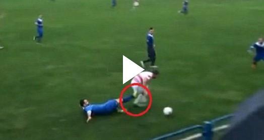 Kupa maçında ilginç bir sakatlık yaşandı
